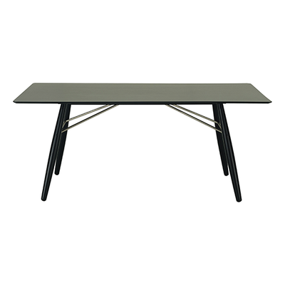 Ferrol Rectangular 8 Seater Table - Black Ash Veneer, Black