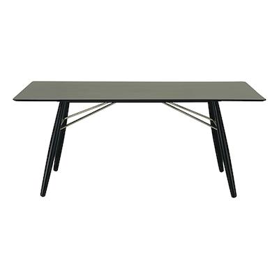 Ferrol Rectangular 8 Seater Table - Black Ash Veneer, Black