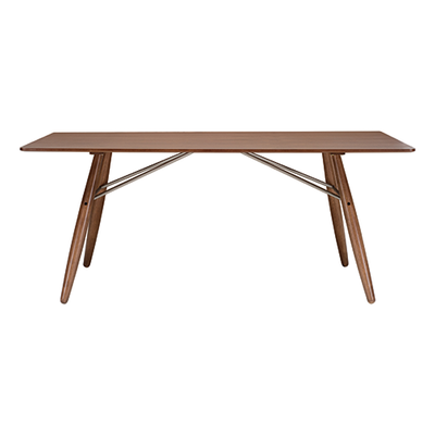 Ferrol Rectangular 8 Seater Table - Walnut Veneer, Walnut