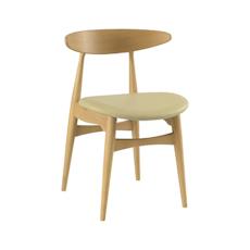 Tricia Dining Chair - Oak, Cream