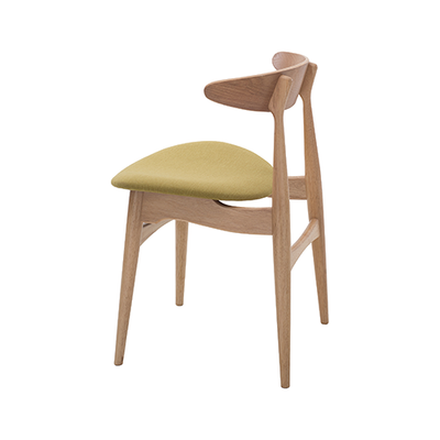Tricia Dining Chair - Oak, Cream - Image 2