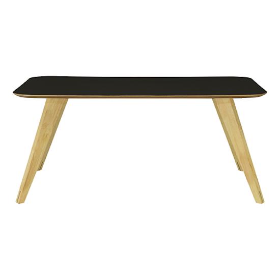 Malmo - Ryder Dining Table 1.8m - Black Ash Veneer, Oak