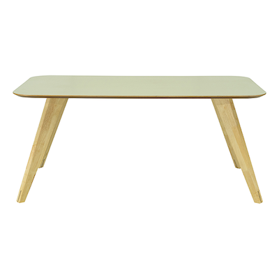 Ryder Dining Table 1.8m - Dust Green Lacquered, Oak - Image 1