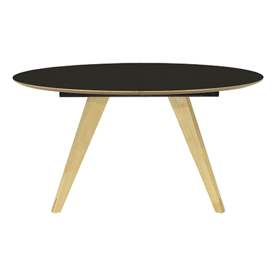Ryder Extendable Dining Table 1.5m - Black Ash Veneer, Oak - Image 1