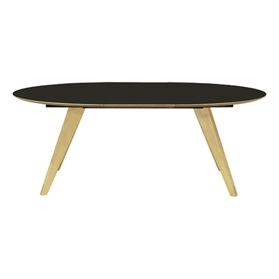 Ryder Extendable Dining Table 1.5m - Black Ash Veneer, Oak - Image 2