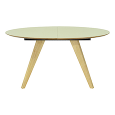 Ryder Oval 8 Seater Extandable Table - Dust Green Lacquered, Oak