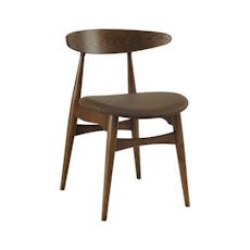 Tricia Dining Chair Cowhide - Walnut, Mocha