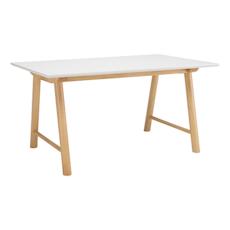 Ernest 6 seater Table - White, Oak