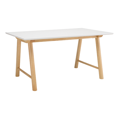 Ernest 6 seater Table - White, Oak