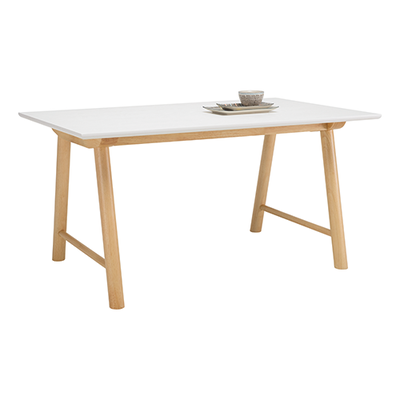 (As-is) Ernest Dining Table 1.5m - White, Oak - 2 - Image 2