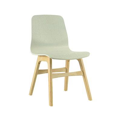 Bianca Dining Chair - Oak, White - Image 1