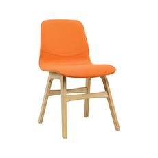 Santorini Dining Chair - Oak, Tangerine (Set of 2)