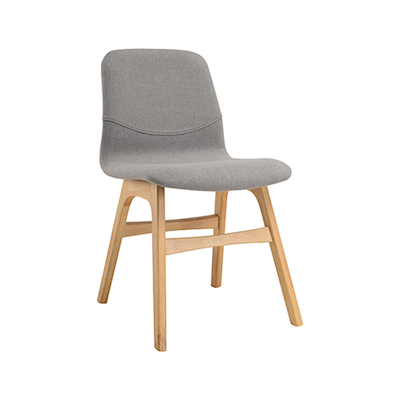 Bianca Dining Chair - Oak, Pale Silver - Image 1