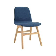 Santorini Dining Chair - Oak, Midnight Blue (Set of 2)