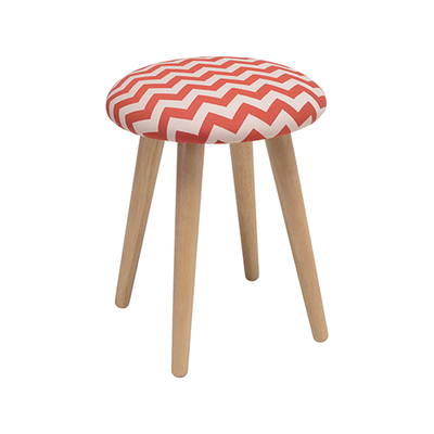Poppy Stool - Natural, Chevron Auburn - Image 1