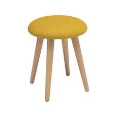 Poppy Stool - Natural, Yellow