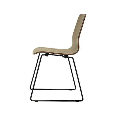 (As-is) Bianca Dining Chair - Matt Black, Black - A