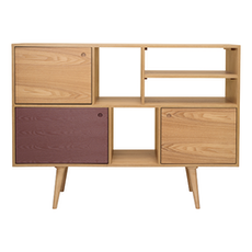 Locke Tall Sideboard - Natural, Penny Brown
