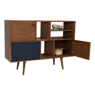 (As-is) Locke Tall Sideboard 1.4m - Natural, Penny Brown - 1 - Image 2