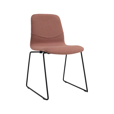 Bianca Dining Chair - Matt Black, Burnt Umber - Image 1