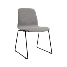Santorini Dining Chair - Matt Black, Pale Silver (Set of 2)