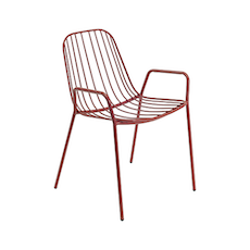Nerissa Outdoor / Dining Arm Chair - Matt Red