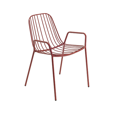 Nerissa Outdoor / Dining Arm Chair - Matt Red - Image 2