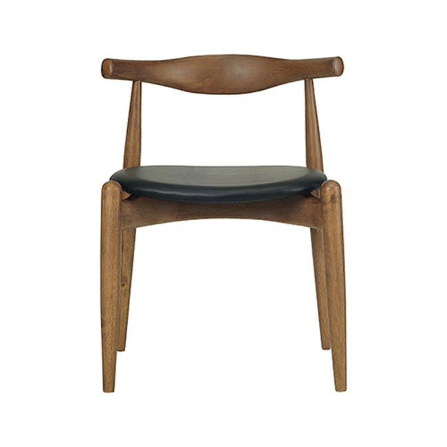 (As-is) Bouvier Dining Chair - Walnut, Cream - 1 - 8