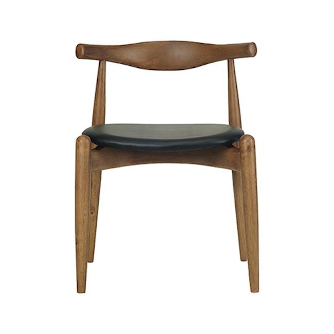 Bouvier Dining Chair - Walnut, Caramel - 1