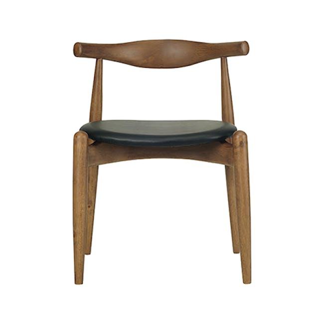 Bouvier Dining Chair - Walnut, Cream - 1