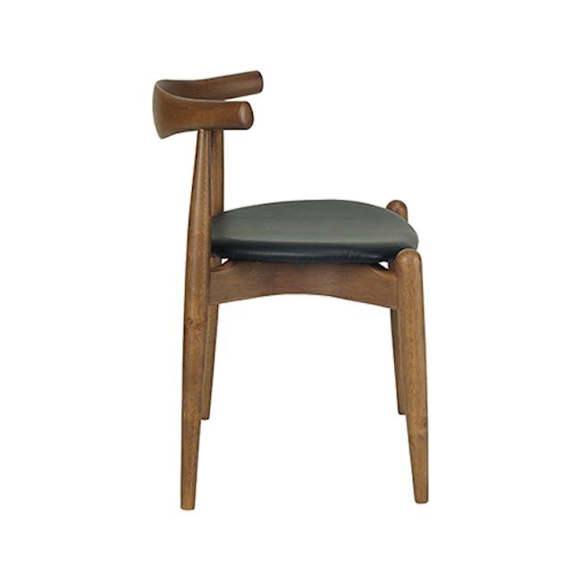 Bouvier Dining Chair - Walnut, Cream - 2