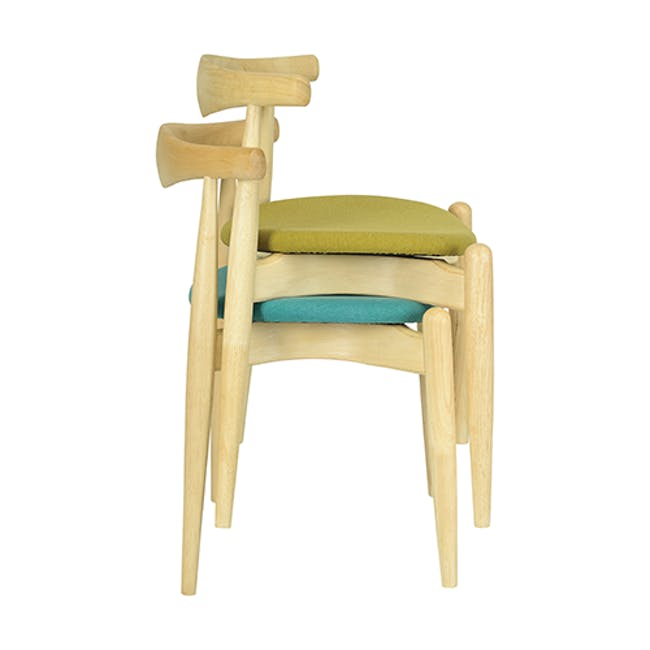 Bouvier Dining Chair - Oak, Carrot - 2