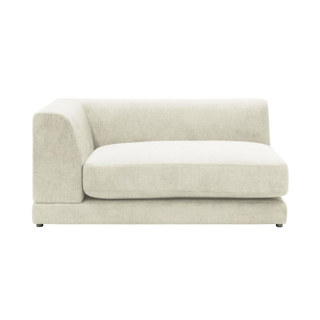 Abby Chaise Lounge Sofa - Pearl - 0
