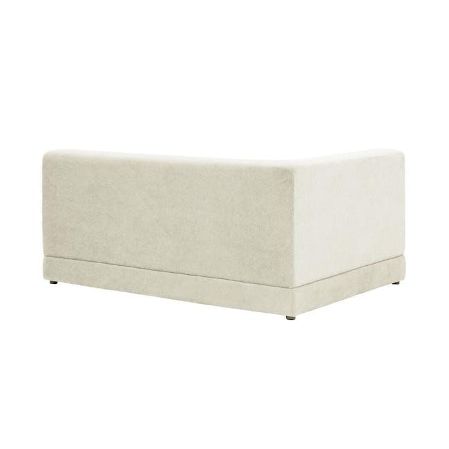 Abby Chaise Lounge Sofa - Pearl - 3