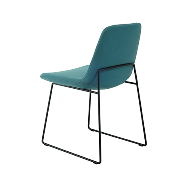 Aurora Dining Chair - Matt Black, Jade - 1
