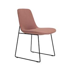 Aurora Dining Chair - Matt Black, Burnt Umber