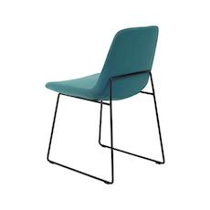 Aurora Dining Chair - Matt Black, Pale Silver