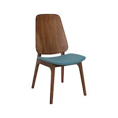 Maddie Dining Chair - Walnut, Clover