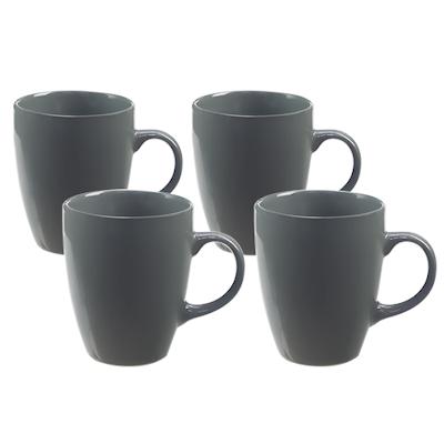 EVERYDAY 4-Pc Mug Set - Dark Grey - Image 1