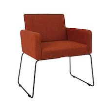 Delma Dining Chair - Matt Black, Russet