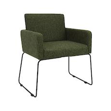 Delma Dining Chair - Matt Black, Forest