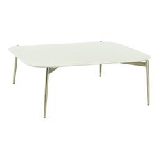Sydney High Coffee Table - White, Matt Silver