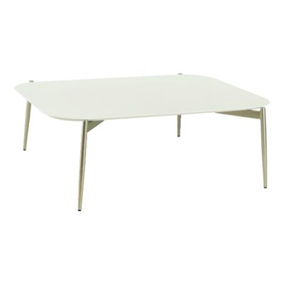 Nova High Coffee Table - White, Matt Silver