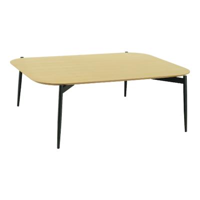 Nova High Coffee Table - Oak, Matt Black - Image 1
