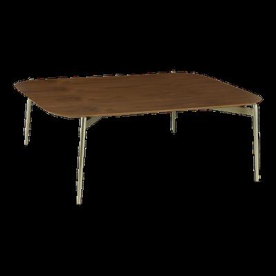 Nova High Coffee Table - Walnut, Matt Silver - Image 1