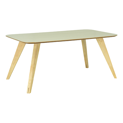 Ryder Dining Table 1.8m - Dust Brown Lacquered, Oak - Image 2