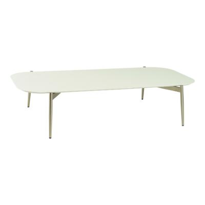 Nova Low Coffee Table - White, Matt Silver
