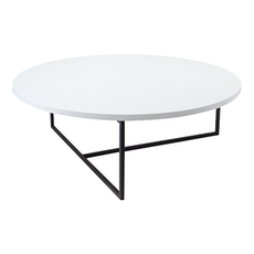 Santorini Coffee Table - White, Matt Black