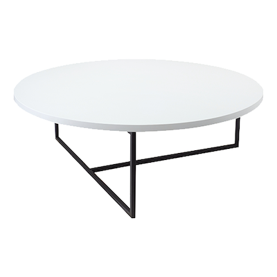 (As-is) Felicity Coffee Table - White, Matt Black -1 - Image 1