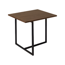 Santorini Rectangular Side Table - Walnut, Matt Black